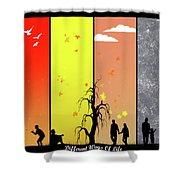 Vector Shower Curtain