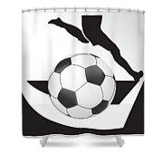 Vector Soccer Ball. Corner Kick Graphic Symbol Shower Curtain
