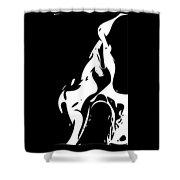 Vector - Yuri Bunny Black Shower Curtain