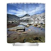 Vee Lake - Sierra Shower Curtain