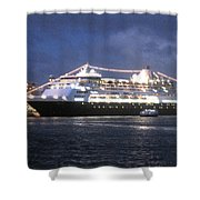Veendam In Bermuda Shower Curtain