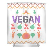 Vegan Traditional Shower Curtain