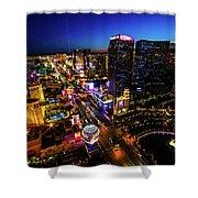 Vegas At Dusk Shower Curtain