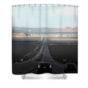 Vegas Here We Come Shower Curtain