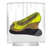 Vegas Shoes Shower Curtain