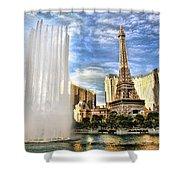 Vegas Water Show Shower Curtain