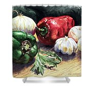 Vegetable Golly Wow Shower Curtain