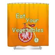 Vegetable Kitchen Decor Shower Curtain