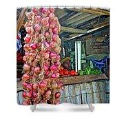 Vegetable Stand 2 Shower Curtain