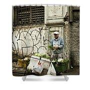 Vegetable Vendor Havana Cuba Shower Curtain