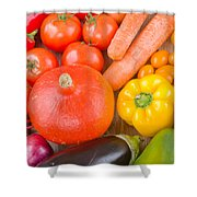 Vegetables Shower Curtain