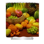 Vegetables And Fruits  Shower Curtain