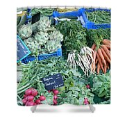 Vegetables At German Market Shower Curtain
