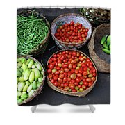 Vegetables In A Basket Shower Curtain