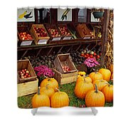 Vegetables In A Market, Grand Rapids Shower Curtain