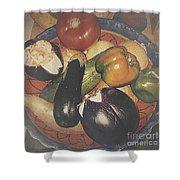 Vegetables Still Life Shower Curtain