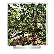 Vegetation Takeover Shower Curtain
