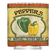 Veggie Seed Pack 2 Shower Curtain by Debbie DeWitt