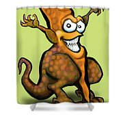 Veggiesaurus Shower Curtain