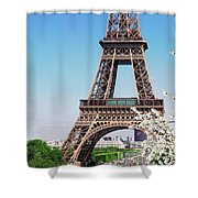 Eiffel Tower And Spring Shower Curtain