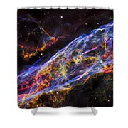Veil Nebula - Rainbow Supernova  Shower Curtain