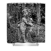 Veil Of Vines Black And White Shower Curtain