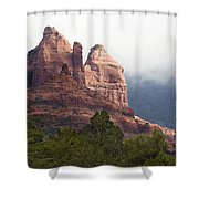 Veiled In Clouds Shower Curtain