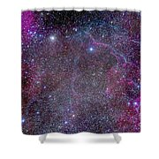 Vela Supernova Remnant In The Center Shower Curtain