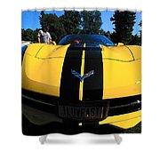 Velocity Yellow Shower Curtain