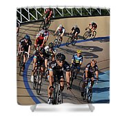 Velodrone Race Event Shower Curtain