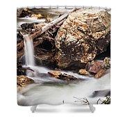 Velvet Falls - Rocky Mountain Stream Shower Curtain