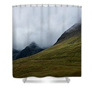 Velvet Hills In The Mist Shower Curtain