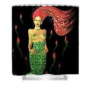 Velvet Mermaid Shower Curtain