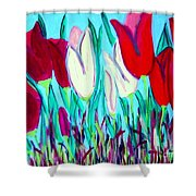 Velvet Tulips Shower Curtain