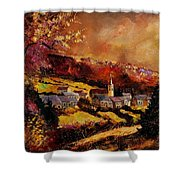 Vencimont Village Ardennes  Shower Curtain