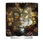 Venetian Golden Mask Shower Curtain