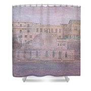 Venetian Harbour, Chania Shower Curtain