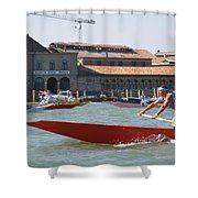 Venetian Rowing Racers Shower Curtain