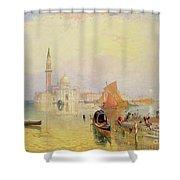 Venetian Scene, 19th Century Shower Curtain