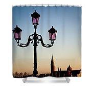Venetian Sunset Shower Curtain by Dave Bowman