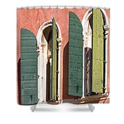 Venetian Windows Shower Curtain