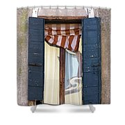 Venetian Windows Shutter Shower Curtain