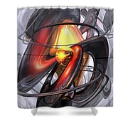 Vengeance Abstract Shower Curtain