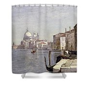 Venice - View Of Campo Della Carita Looking Towards The Dome Of The Salute Shower Curtain
