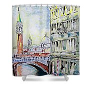 Venice 7-2-15 Shower Curtain by Vladimir Kezerashvili