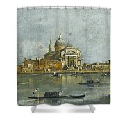 Venice. A View Of The Church Of San Giorgio Maggiore Shower Curtain
