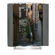 Venice Alleyway Shower Curtain