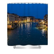 Venice And The Grand Canal In The Evening Shower Curtain