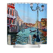 Venice  Aspetando Shower Curtain