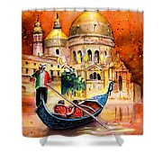 Venice Authentic Shower Curtain